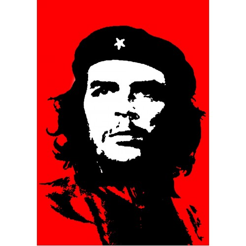 Che Guevara Red Black And White