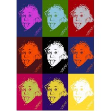 EINSTEIN COLOURED FACES