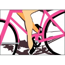 PINK BICICLE PRINT