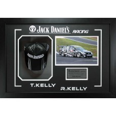 V8 SUPERCARS JACK DANIELS RACING TODD KELLY & RICK KELLY HAND SIGNED & FRAMED