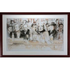 ELVIS PRESLEY MARILYN MONROE JAMES DEAN HUMPHERY BOGART BAR POSTER PHOTO FRAMED