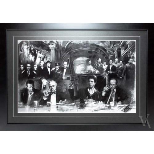 movie star gangsters sopranosgodfatherscarface framed