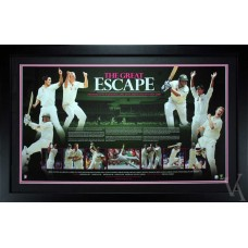 AUSTRALIAN CRICKET THE GREAT ESCAPE MICHAEL HUSSEY RICKY PONTING PHOTO FRAMED