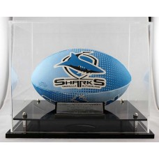 CRONULLA SHARKS PREMIERS LIMITED OF 50 ACRYLIC DISPLAY CASE WITH BALL