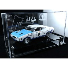 ALLAN MOFFAT FORD XA FALCON GT PERSPEX ACRYLIC DISPLAY CASE (CAR NOT INCLUDED)