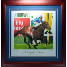 MAKYBE DIVA HERO TO A NATION PAINT FRAMED LIMIT EDITION