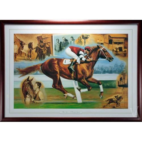 Horse Racing Phar Lap Painting Melbourne Cup Framed Lt