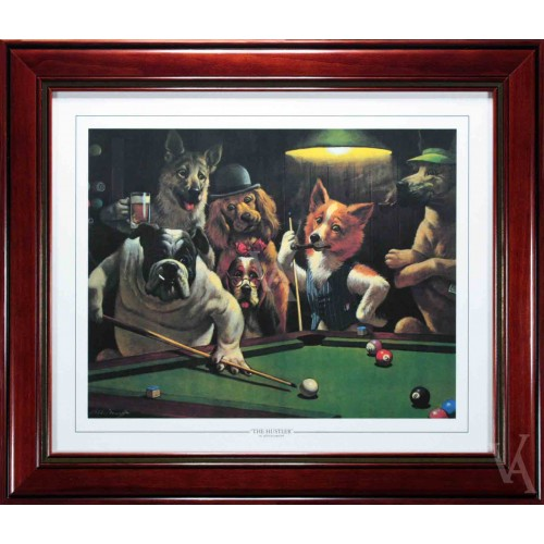 Snooker Dogs Playing Pool Around Pool Table Billiard Table