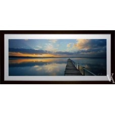 KEN DUNCAN FRAMED & SIGNED SCENIC SIGNATURE SERIES SUNSET LONG JETTY
