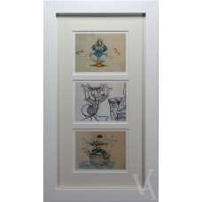 WALT DISNEY CHARACTERS DONALD DUCK ART ILLUSTRATION PHOTO PRINT FRAMED