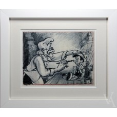 WALT DISNEY PINOCCHIO PICTURE ILLUSTRATION PHOTO PRINT FRAMED