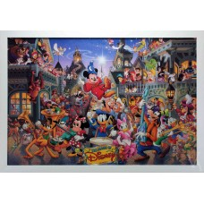 DISNEY CHARACTERS WALL ART ILLUSTRATION PRINT THE MAGIC OF DISNEY
