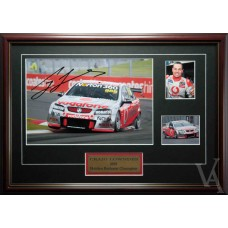 CRAIG LOWNDES 2010 BATHURST CHAMPION SIGNED AND FRAMED