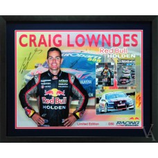 CRAIG LOWNDES SIGNED & FRAMED RED BULL RACING LIMITED EDITION POSTER