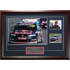 CRAIG LOWNDES RED BULL RACING TEAM SIGNED & FRAMED