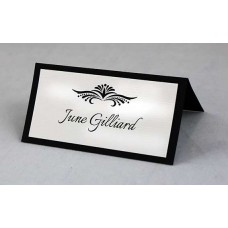 WEDDING PLACE CARDS PARTY NAME DECORATIONS BLACK AND WHITE QUALITY THICK PAPER