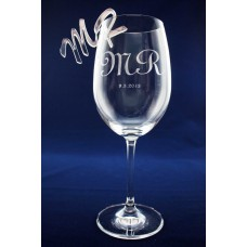 WINE GLASS AWARD TROPHY CUSTOM LASER ENGRAVING FREE MATCHING ACRYLIC LETTERS