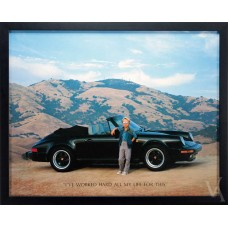SALE PORSHE 911 YOUNG BOY PHOTOGRAPHY WALL ART FRAMED