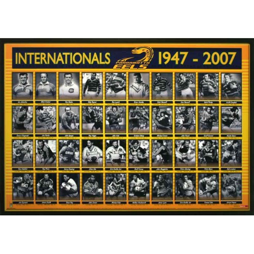 Parramatta Eels Framed Photos Print Poster Limited Edition: PARRAMATTA EELS INTERN. FRAMED PHOTOS PRINT POSTER